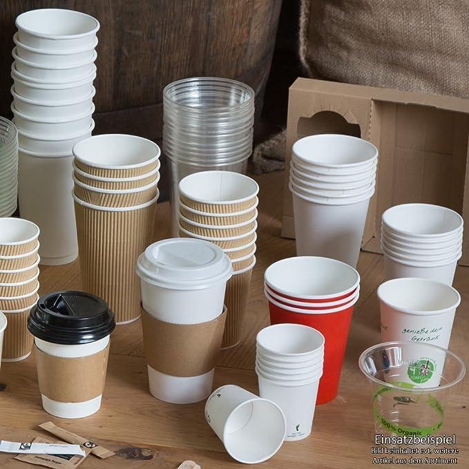 BIOZOYG Vaso de café Espresso orgánica desechable I Vaso de Beber ...