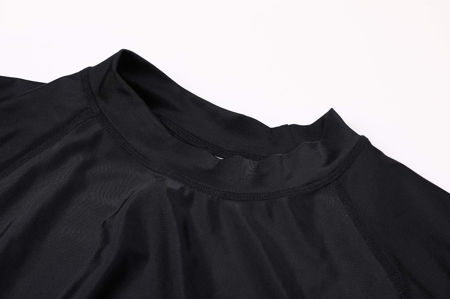 ALove Woman Long Sleeve Swim Shirt Quick Dry Rashguard Swim Top Black M by ALove (Image #6)