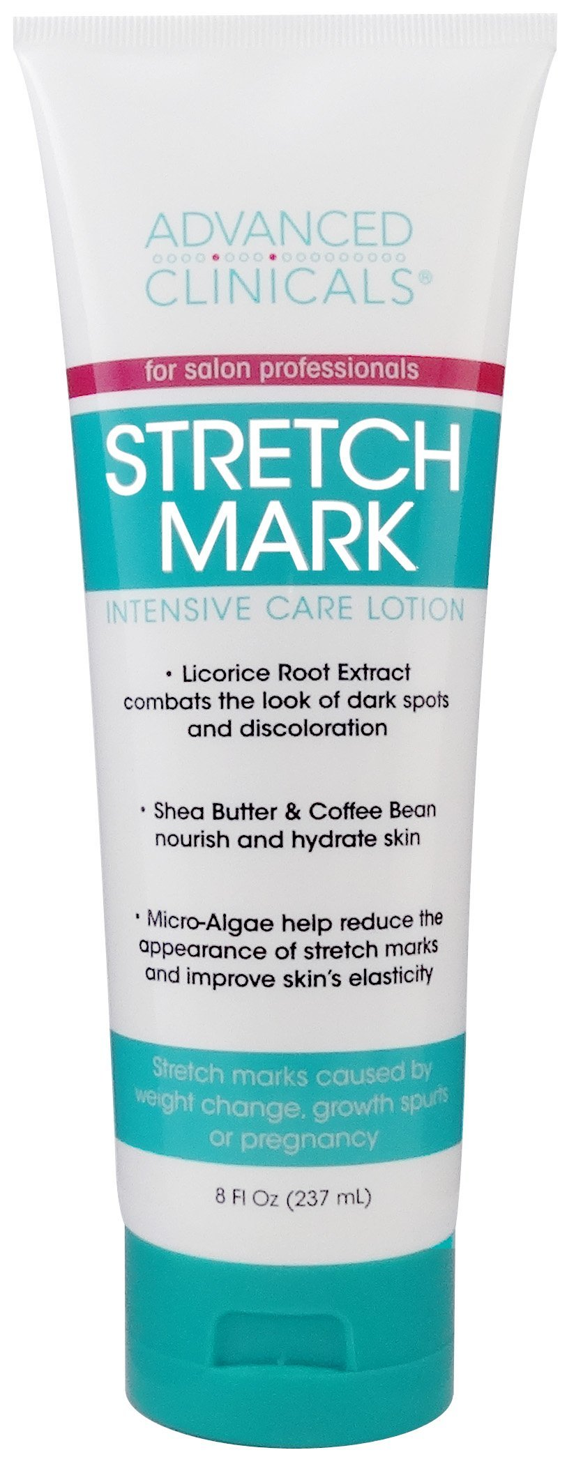 Advanced Clinicals Stretch Mark Lotion. Moisturizing Cream for Scars, Extreme Weight Loss, Pregnancy. 8oz Tube. by Advanced Clinicals