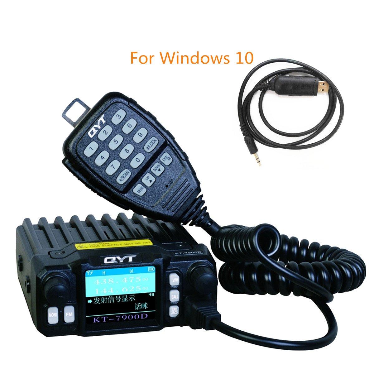 QYT KT-7900D Quad Band Quad Standby mini l'é metteur - ré cepteur mobile 136 ~ 174 / 400-480mhz / 220-260mhz /350-390mhz amateur radio avec une programmation gratuite cable