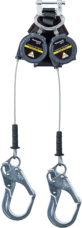 Miller TurboLite Edge EXTREME Sharp Edge 6-Foot Twin Personal Fall Limiter with Aluminum Locking Rebar Hooks (MFLEC2-12/6FT)