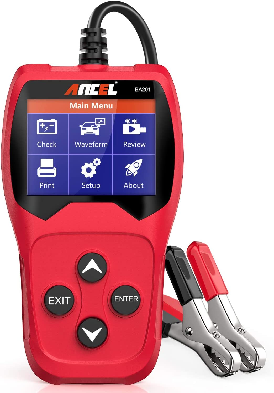 ANCEL PB100 Automotive 12//24V Power Circuit Tester Probe BA301 6V 12V Battery Load Tester Car Cranking Charging System Test Tool