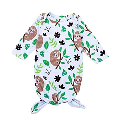 Baby Boys Girls Cartoon Animal Sleeping Bag Sloths Reindeer Printed Unisex Baby Wearable Sleep Sack Sleep Gown (3-6M, Sloth): Sports & Outdoors
