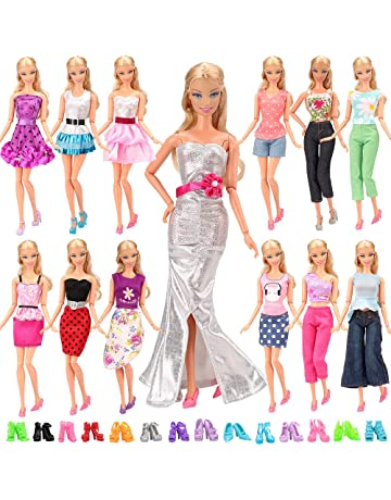 1619a27603cf ... Doll Clothes Outfits. BARWA Lot 20 Items 10 Set Fashion Handmade Clothes  Outfit 10 Pairs Shoes for 11.5 Inch