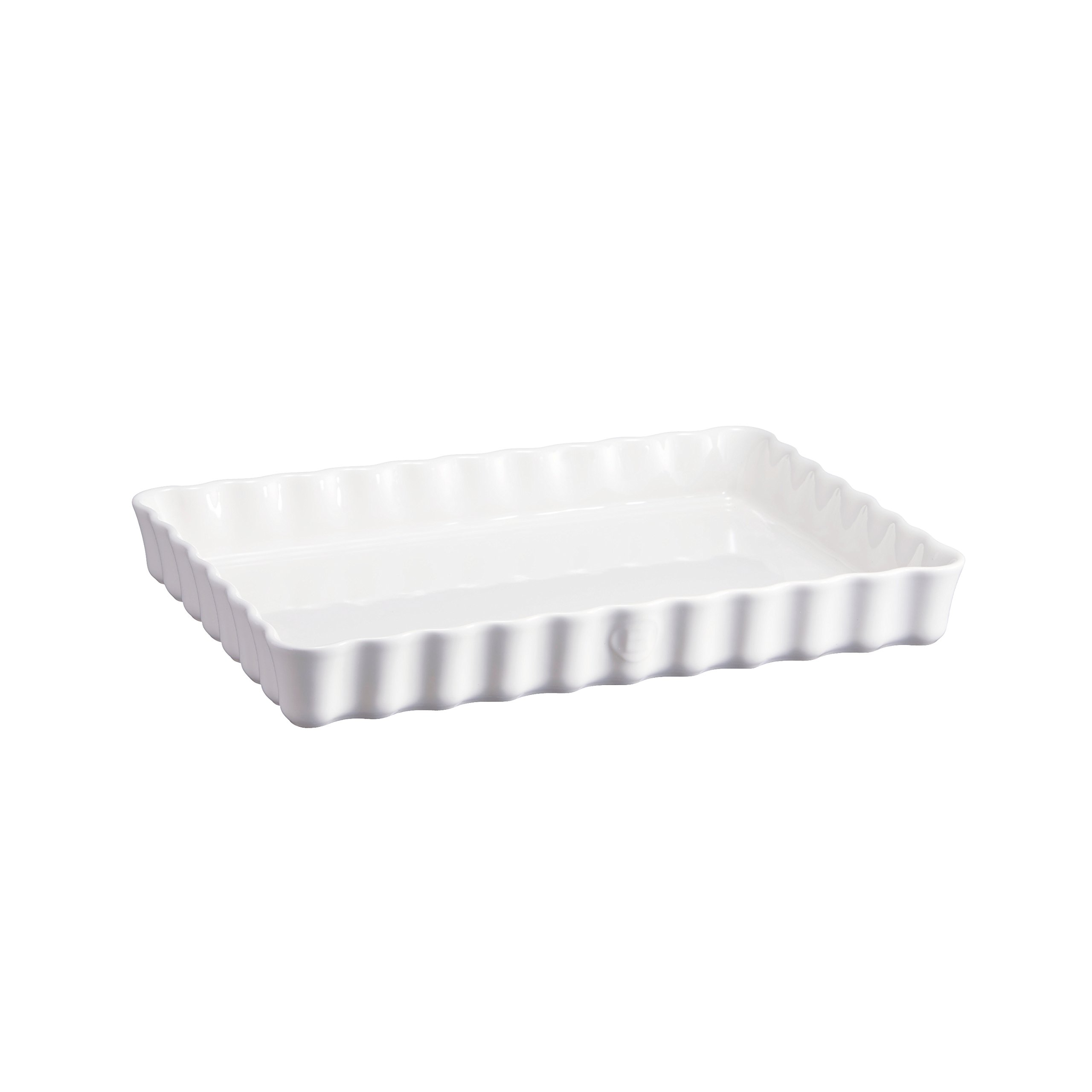 Emile Henry Deep Rectangle Tart Dish, 2 Qt, Flour