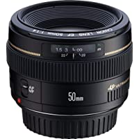 Canon EF 50mm f/1.4 USM Standard and Medium Telephoto Lens for Canon SLR Cameras, Fixed