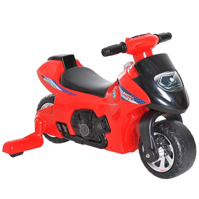 Homcom Porteur Enfants Moto 12-36 Mois avec stabilisateurs dim. 66L x 46l x  43H cm Effets Lumineux et sonores Rouge Noir  Amazon.fr  Jeux et Jouets 62192304abc