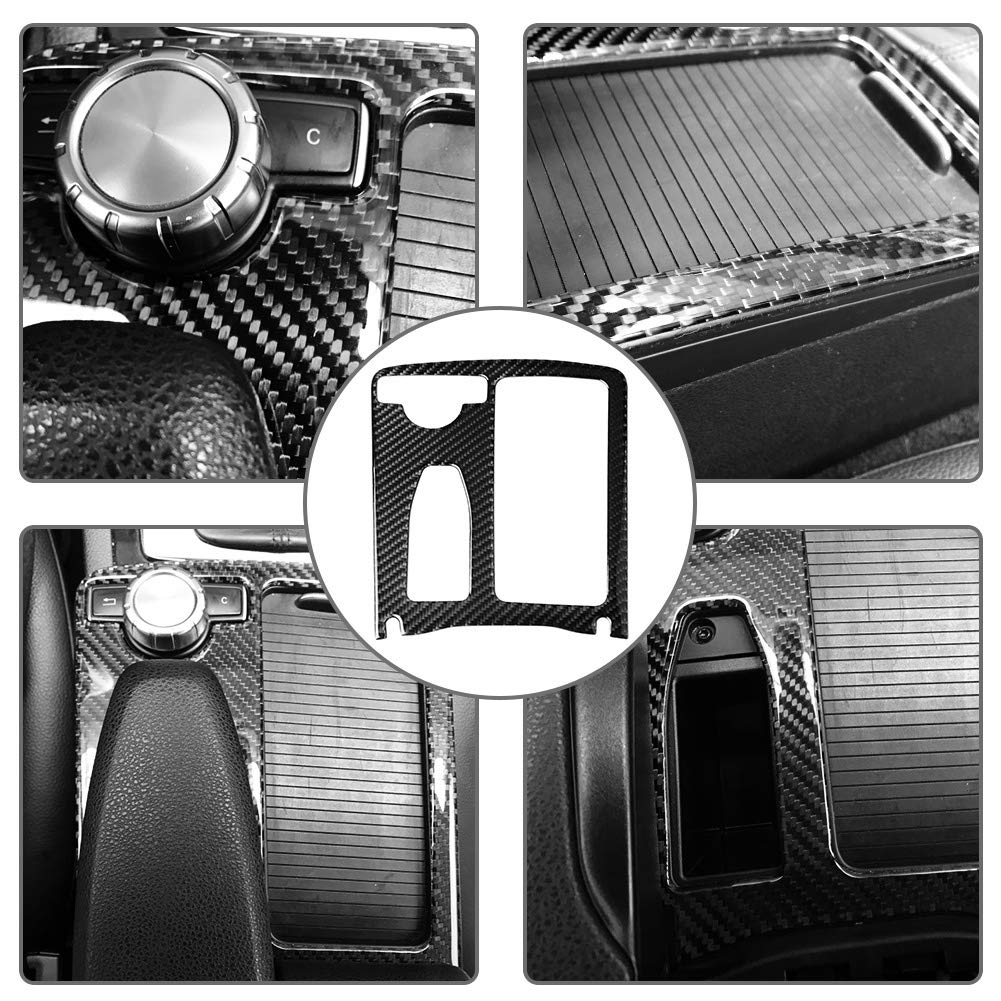 Soporte para portavasos de agua consola central de fibra de carbono Cubierta para ajustes de portavasos de agua para W204 2005-2012