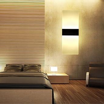Splink LED Wandleuchte Modern Flurlampe Acryl Aluminum Wandlampe Fr Innen Schlafzimmer Wohnzimmer Treppenhaus