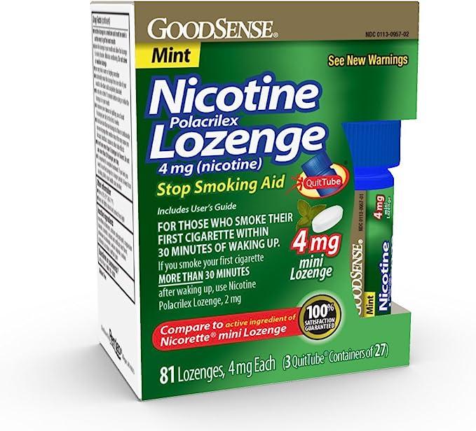 GoodSense Mini Nicotine Polacrilex Lozenge 4mg