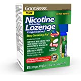 GoodSense Mini Nicotine Polacrilex Lozenge, 4 mg (nicotine), Stop Smoking Aid, Mint Flavor; quit smoking with mint nicotine l