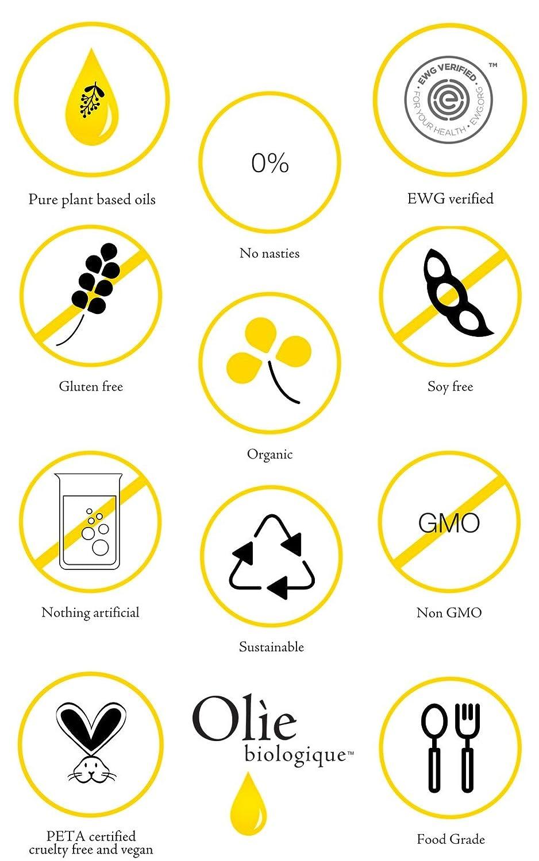 All Natural, Organic Face Oil, Rejuvenating 005, Huile Radicale by Olie Biologique – 20 ml
