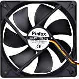 Pinfox 12V DC 120mm Quiet Cooling Fan, Variable Speed Control By 5V To 12V Input, Dual Ball Bearings 3 Pin for PC Computer Case, Home Theater Cabinet, Receiver DVR Xbox, Incubator