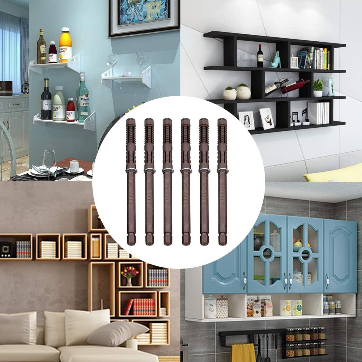 soportes fijos invisibles soportes para estantes flotantes cubiertos soportes para trabajos pesados montados en la pared 6 piezas de soportes para estantes de 10x100 mm estantes para paredes