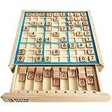 BEATON JAPAN 知育玩具 パズル 木製 ナンプレ ナンバープレース アナログゲーム 数字 活脳 脳トレ ボードゲーム 卓上 9ブロック (ブルー)