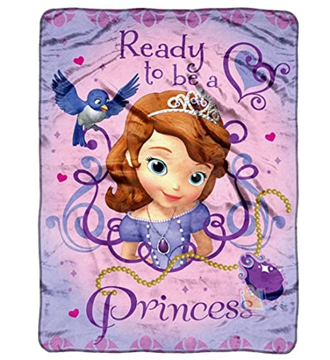 Amazon Fleece Throw Disney Sofia The First Ready To Be A New Sofia The First Throw Blanket
