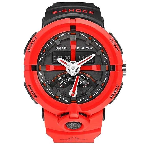Beydodo Reloj Multifunción Relojes LED Relojes Electronicos Reloj de Doble Pantalla Reloj Hombre Reloj Militar Reloj