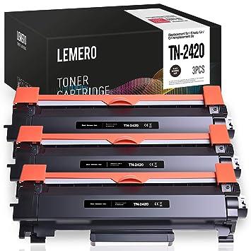 3 LEMERO Compatible Brother TN-2420 TN2420 TN-2410 [con Chip ...