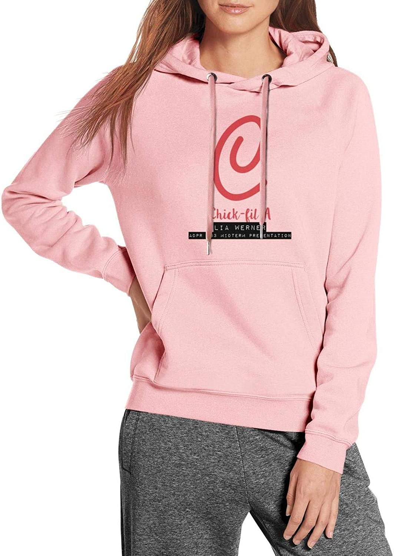 Womens Comfy Hoodie Chick-fil-a-Reverse-Logo College Gym Kangaroo Pocket Sweaters