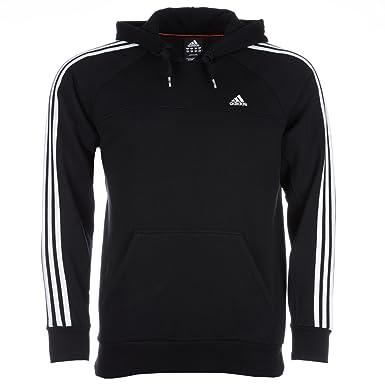 4f3d84aa6977 Adidas Herren Essentials 3S Hood Sweatshirt Kapuze, Farbe Schwarz Größe XXL