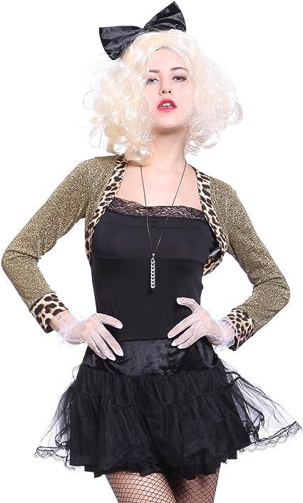 Madonna Costume Adulto 80s Wild Child Donna 1980s Popstar Travestimento Vestito