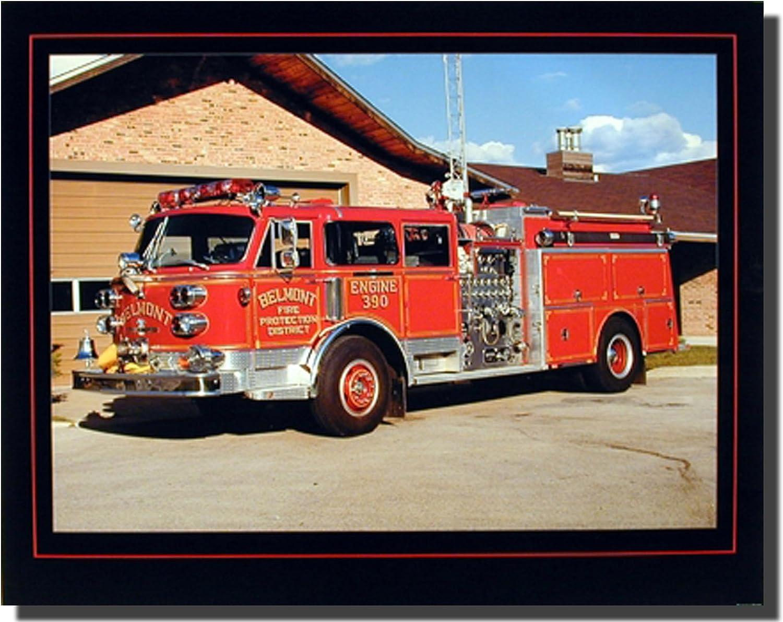 Amazon Com Fire Truck Wall Decor 1984 American La France Red