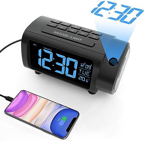 Radio Despertador Proyector, Liorque Reloj Despertador