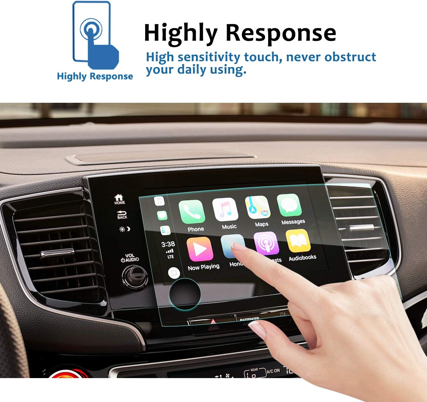 LFOTPP Clear TEMPERED GLASS Infotainment Display In-Dash Center Touch Screen Protector LiFan 2018-2019 Buick Encore 8-Inch Car Navigation Screen Protector