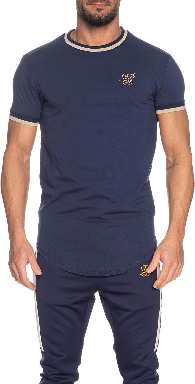 Sik Silk Camiseta S/S Rib Gym Navy Hombre