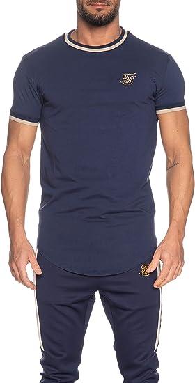 Sik Silk Camiseta S/S Rib Gym Navy Hombre x-Small Azul: Amazon.es: Ropa y accesorios