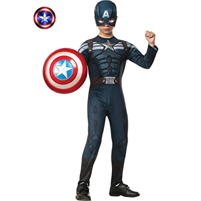 Rubies Captain America: The Winter Soldier Deluxe Stealth Suit Costume, Child Medium: Toys & Games