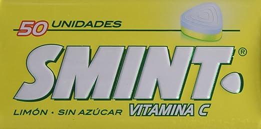 Smint - Caramelos comprimidos con Vitamina C sin azúcar - Sabor a limón - 50 unidades - [Pack de 3]
