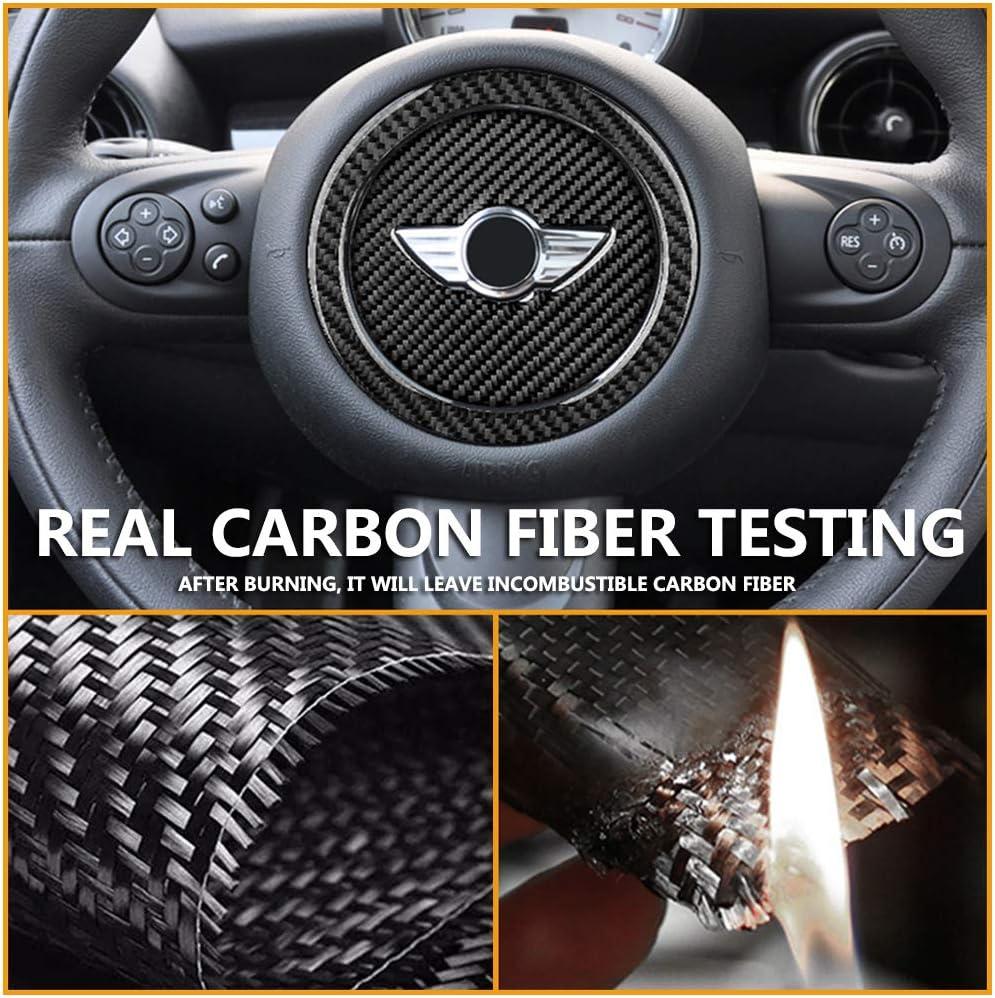 Carbon Fiber QIDIAN-Autocollant de Couverture de d/écoration de Volant int/érieur de Voiture en Fiber de Carbone pour Mini Cooper R55 R56 R57 R58 R59 R60 Countryman R61 Accessoires de Voiture