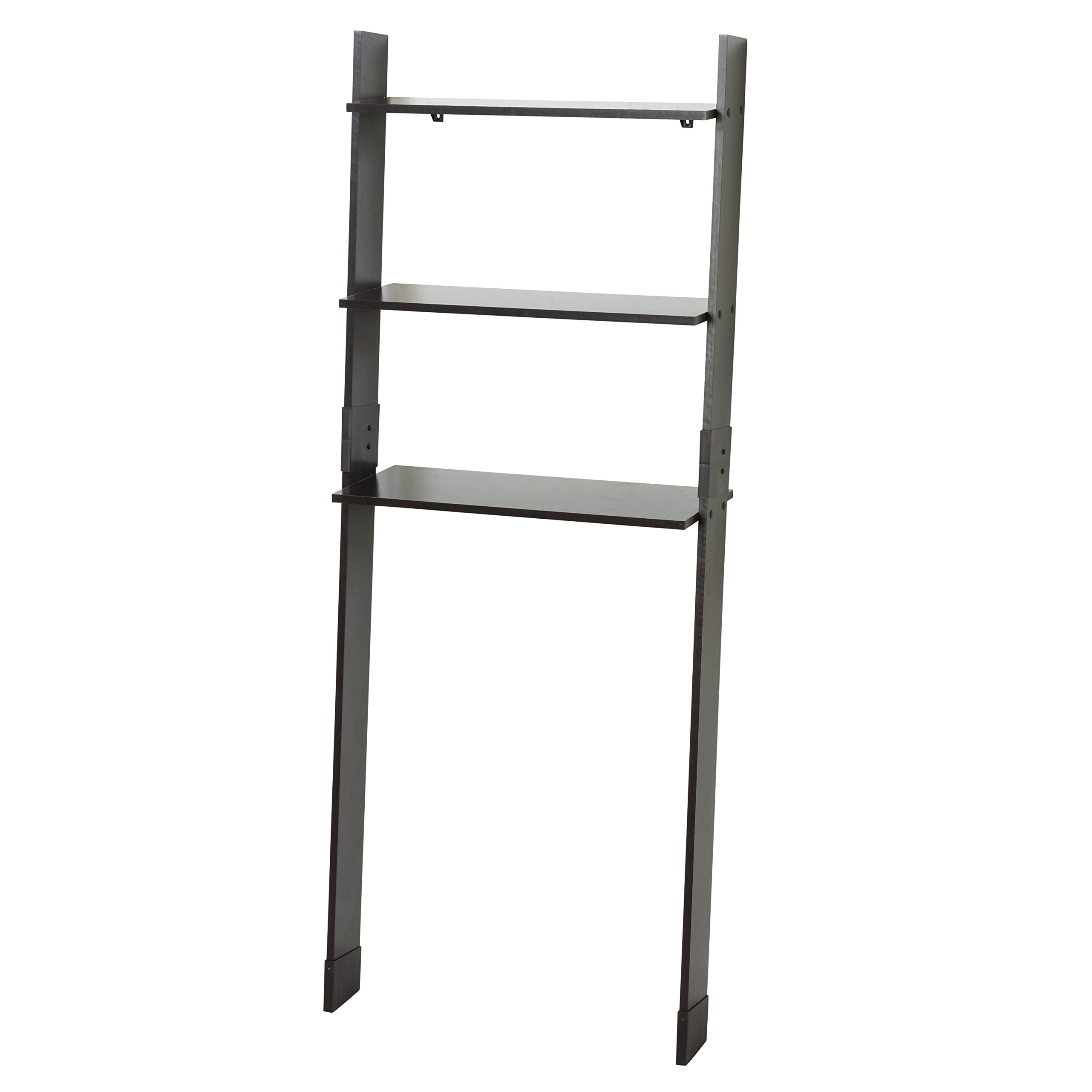 Zenna Home 9431CH, Leaning Wood Ladder-Style Bathroom Spacesaver, Espresso