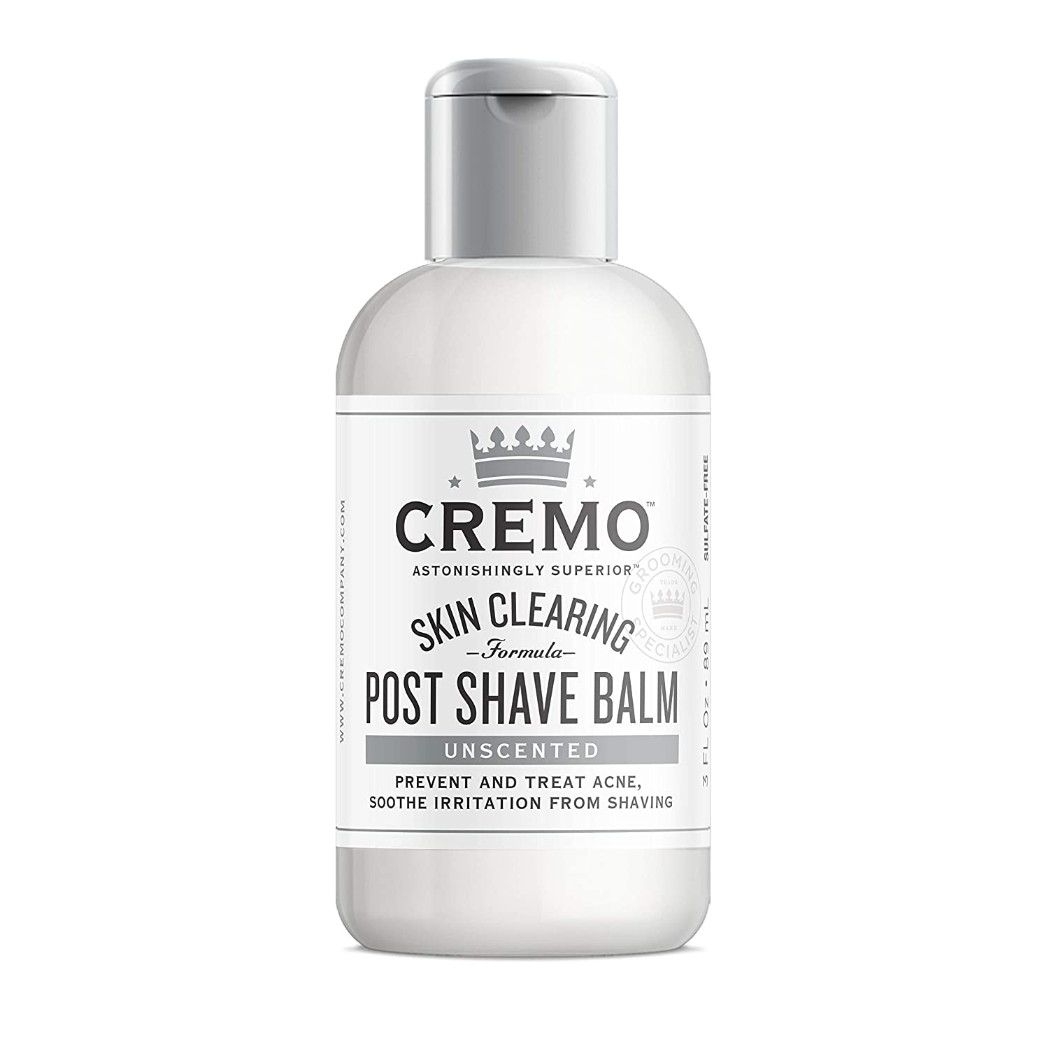 Cremo Unscented Post Shave Balm