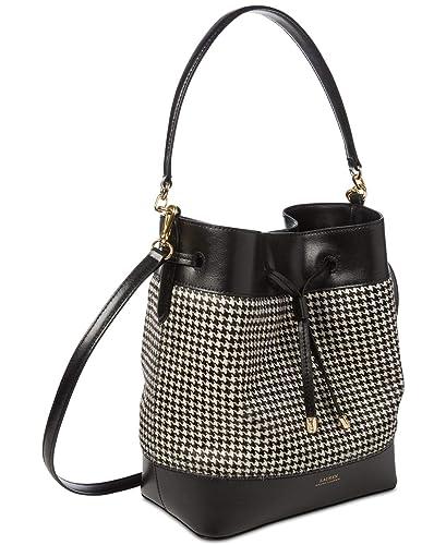 68d858b950f5b Lauren Ralph Lauren Dryden Debby I? Crossbody Bucket Handbag (Black, One  Size): Handbags: Amazon.com