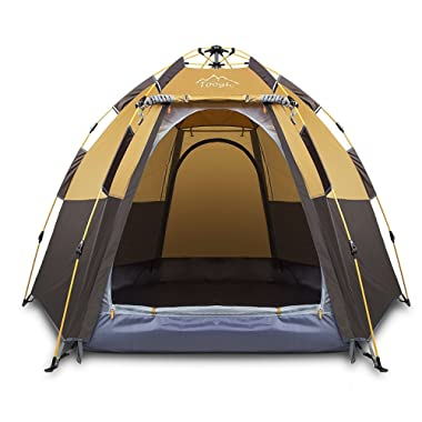 Toogh 3 Person Camping Tent 4 Season Backpacking Tent Automatic Instant Pop Up Tent Outdoor Sports