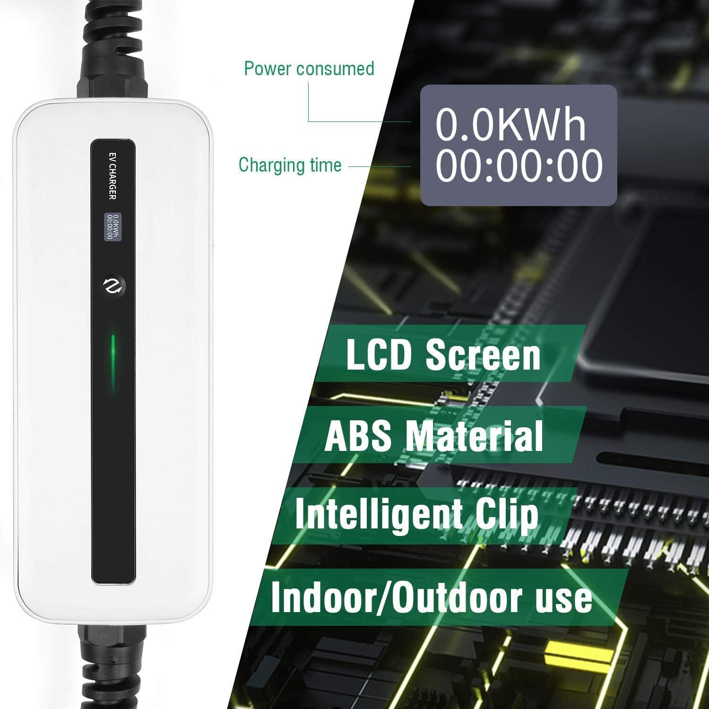 LEFANEV EV Charger Level 2 J1772 EVSE 27ft Home Current-Switchable 220V-240V IP65 8A//16A Portable Charge Station Compatible with All EV Cars