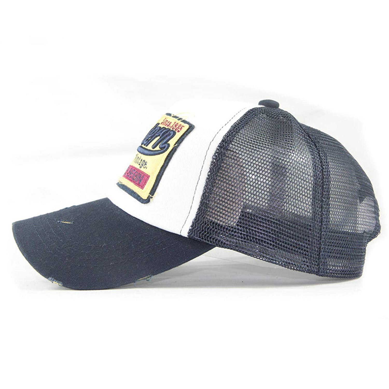 BOOBODA Casual Hats Hip Hop Baseball Caps Visor Embroidered Summer Cap Mesh Hats for Men Women Boys Girls