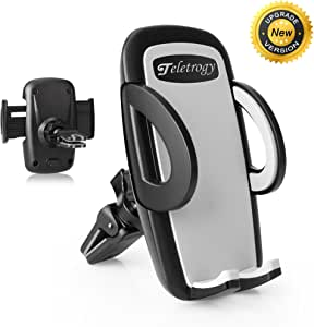 Phone Holder, Teletrogy Air Vent Universal 360 Degree Rotation Car Phone Holder Cellphone Mount for GPS iPhone 7 6s Plus 6 Plus 5s 5 Samsung Galaxy S6 S5 Note 3 4 5 and More