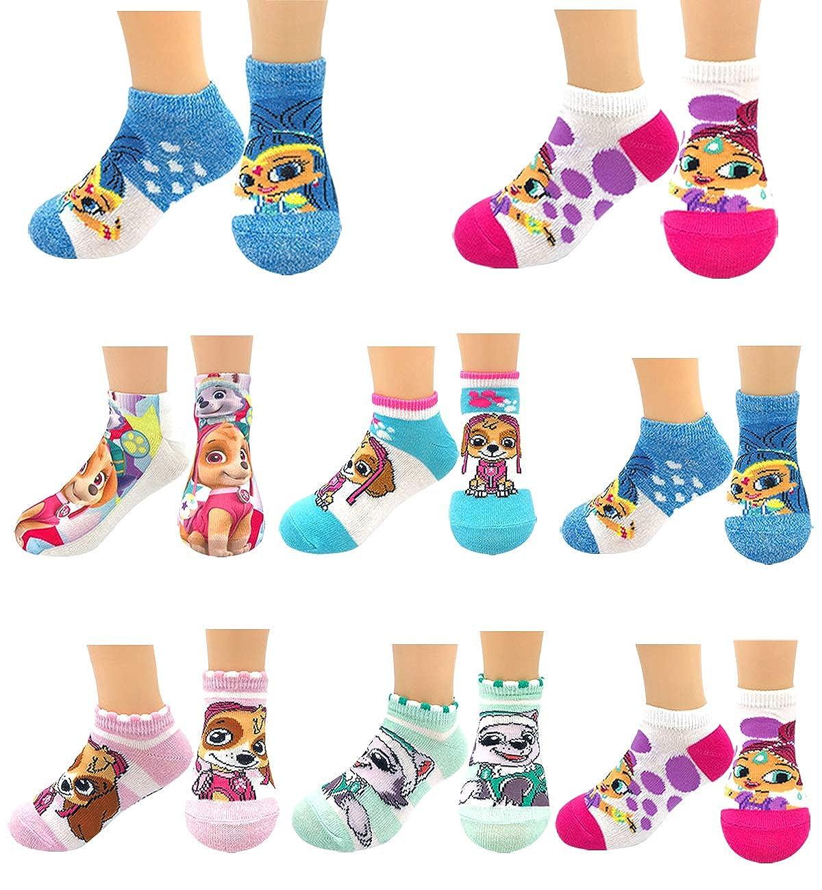 Kids Boys Girls Licensed Disney Marvel SuperHeroes Short Ankle Low Cut No Show Crew Neck Socks Set for Gifts Goodies