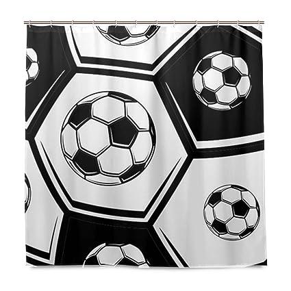 A Lie Love Soccer Shower Curtain