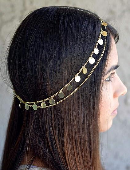 gracewedding novia oro cabeza cadena para la cabeza las mujeres ...