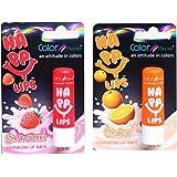 Color Fever Nourishing Lip Balm Combo - Stawberry + Orange