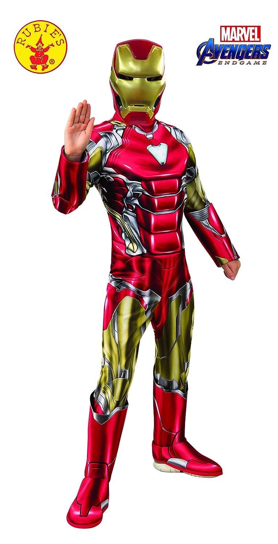 Rubie's, Costume Ufficiale Avengers Endgame Iron Man, per Bambini, Taglia M, età 5-7 Anni, Altezza 132 cm