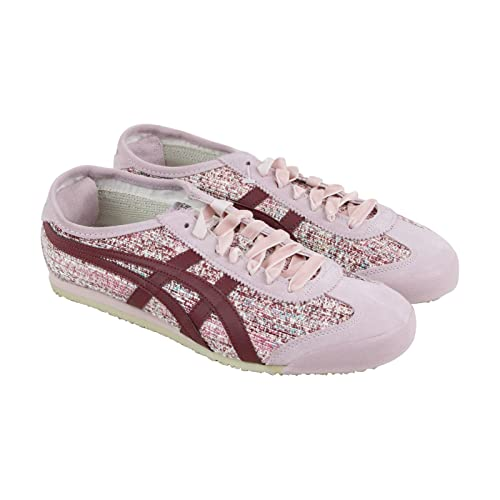 ffca22851b42b Onitsuka Tiger Mexico 66 Womens Pink Leather Sneakers Lace Up Shoes 10.5