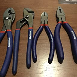 Workpro 7 Piece Pliers Set 8 Inch Groove Joint Pliers 6 Inch Long Nose 6 Inch Slip Joint 4 1 2 Inch Long Nose 6 Inch Diagonal 7 Inch Linesman 8 Inch Slip Joint For Diy Home Use Amazon Com