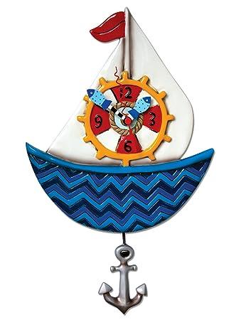 Allen Designs Ahoy Sailboat Clock