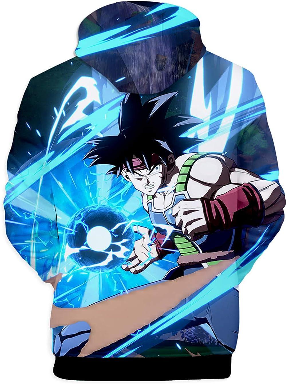 HUASON Ni/ño Goku Sudadera con Capucha Dragon Ball Hoodie de Anime Impresi/ón 3D Ropa Deportiva de Hip Hop