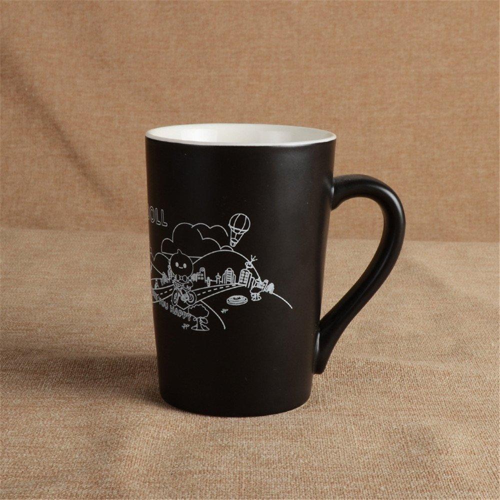 facaig A Few CupsブラックとホワイトでののハルのペアをセラミックBeaker with a 296845938  A B07D6DPDNT